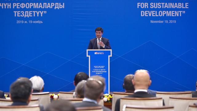 Премьер-министр Мухаммедкалый Абылгазиев «Туруктуу өнүгүү үчүн реформаларды тездетүү» жогорку деңгээлдеги Өнүктүрүү форумуна катышты